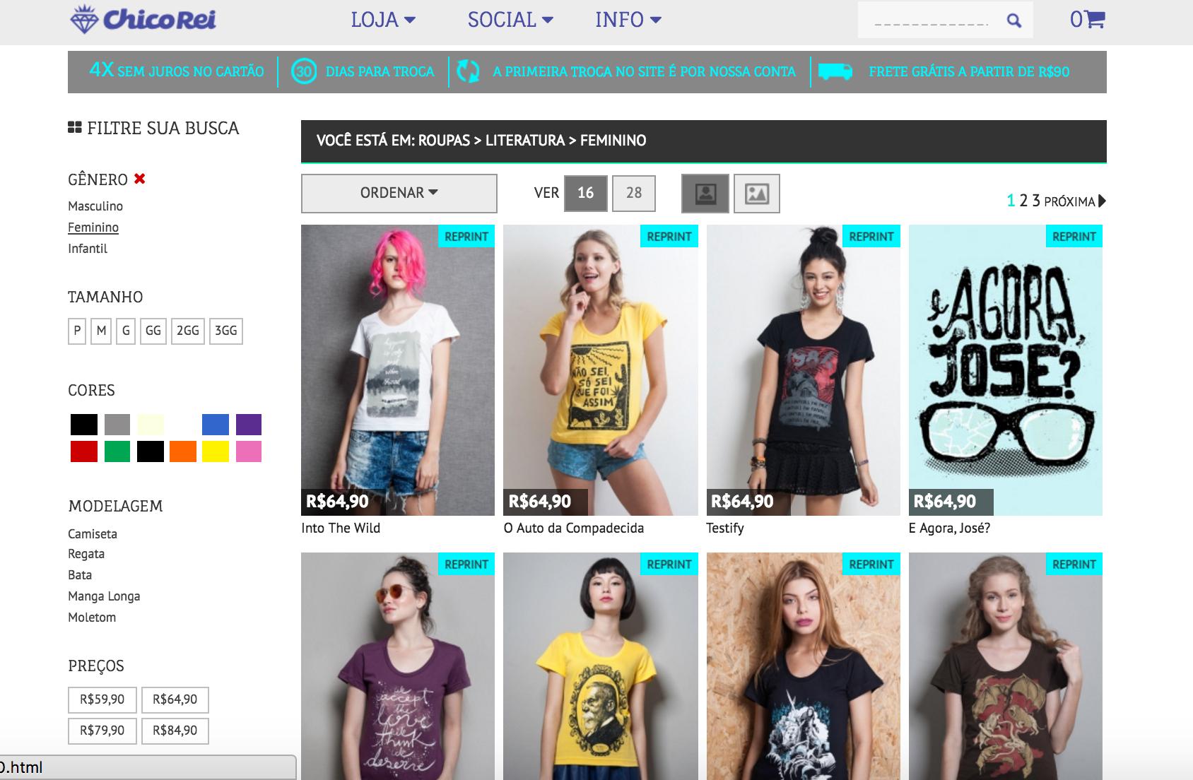 3 lojas online para comprar camisetas literárias