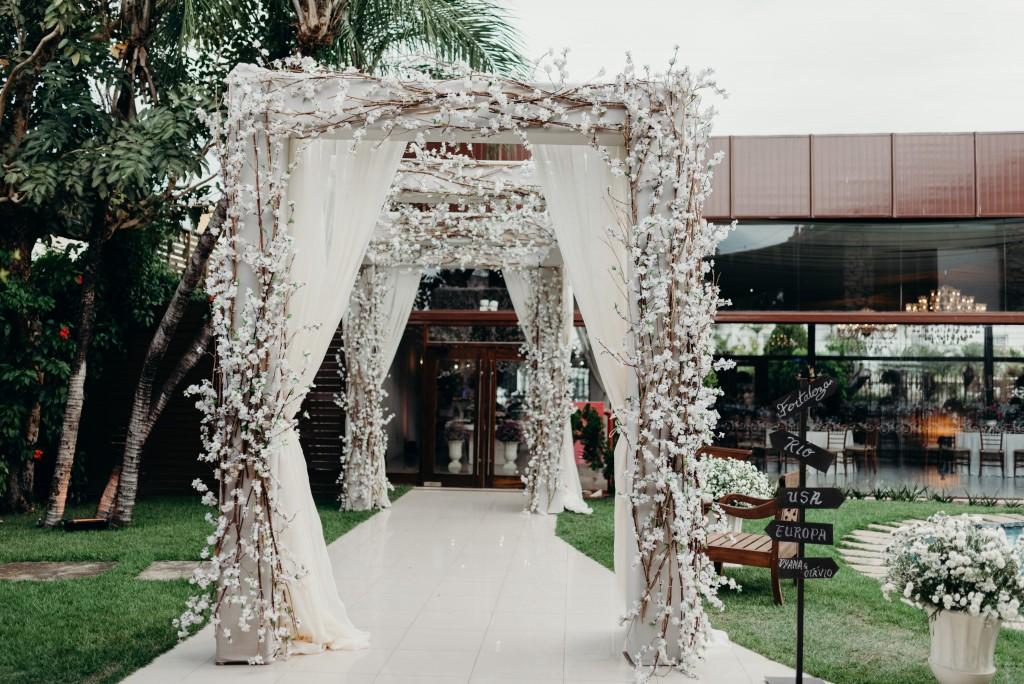 Decoração de casamento rústica e romântica