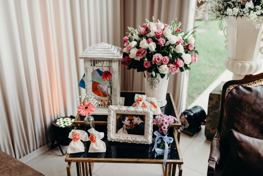 Decoração de casamento rústica e românticaDecoração de casamento rústica e romântica