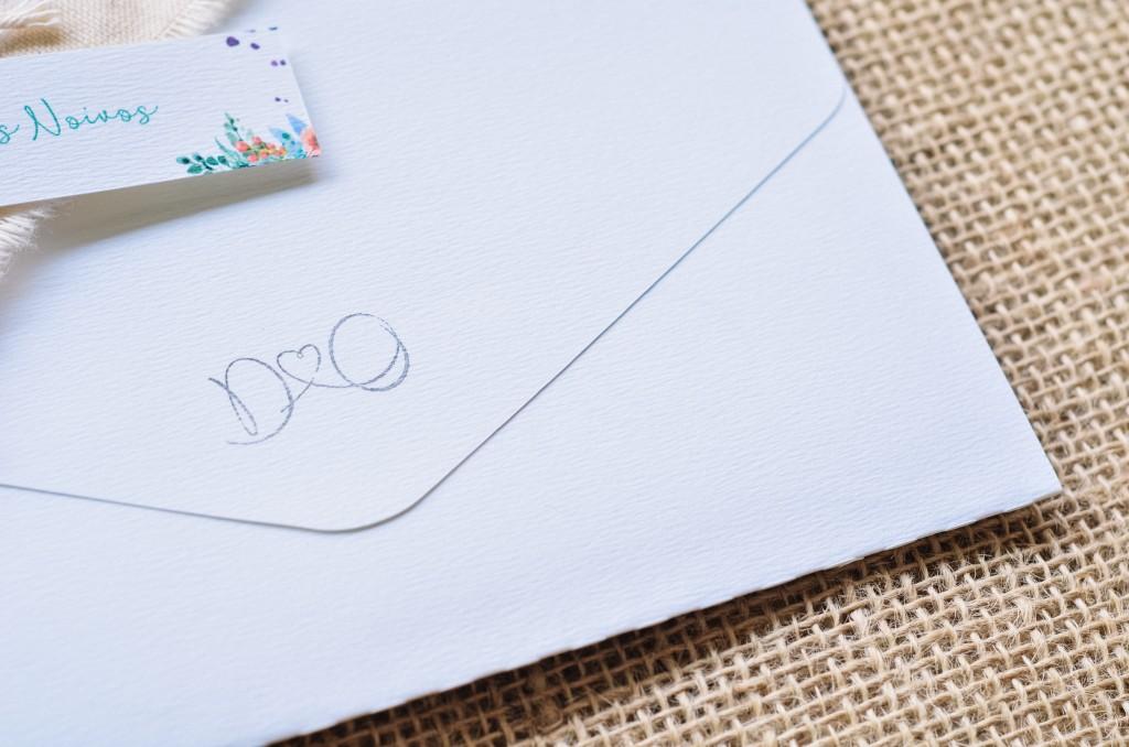 Nosso convite de casamento criativo e outros itens de identidade visual
